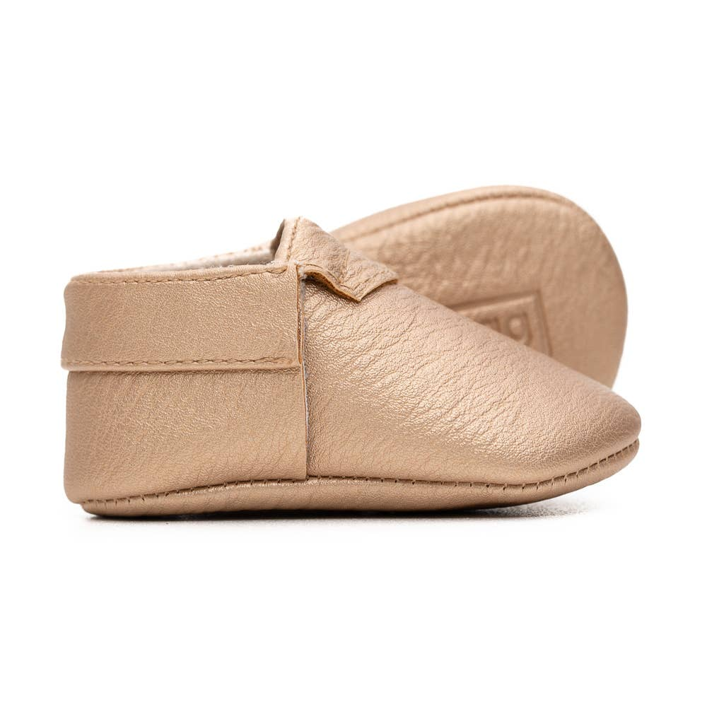 gold baby booties BE LOVE kids