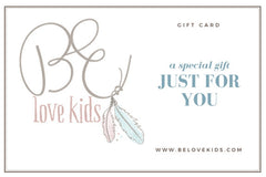 BE love kids organic kids clothes gift card