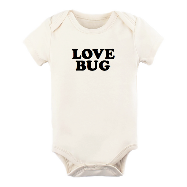 organic cotton short sleeve bodysuit love bug BE LOVE kids