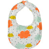 organic baby bib colorful clouds