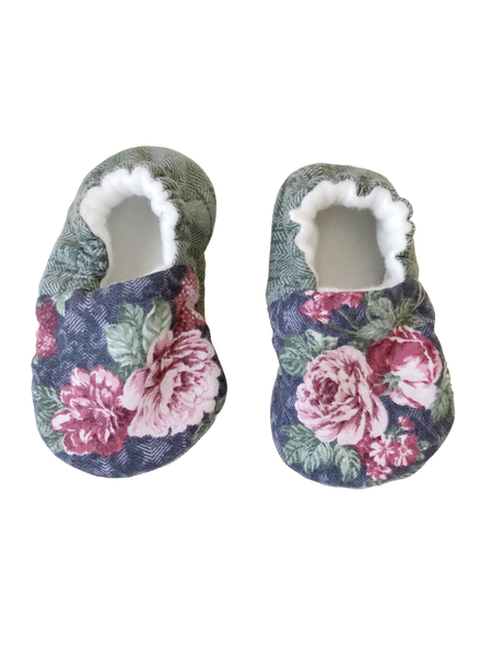 organic baby booties flowers BE LOVE kids
