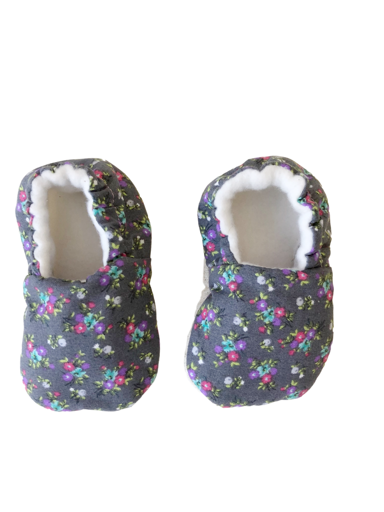 organic cotton baby booties flowers BE LOVE kids