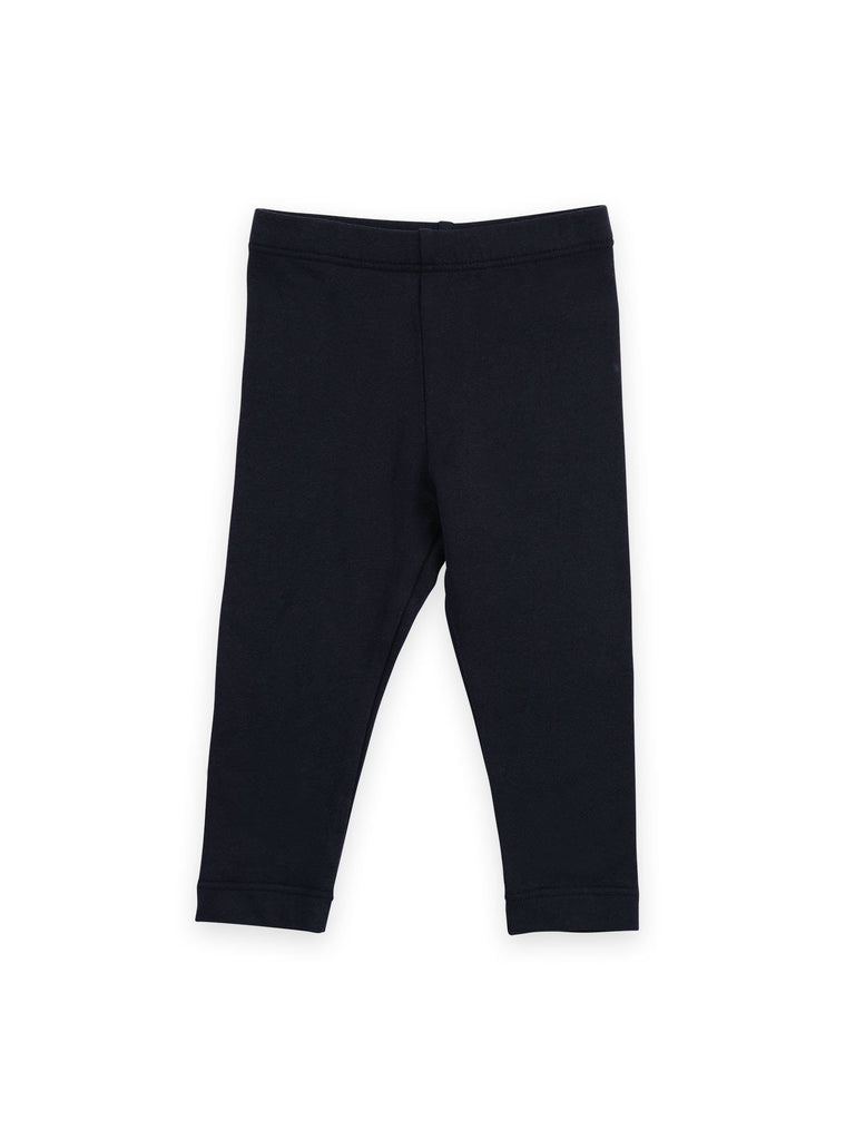 organic baby leggings black