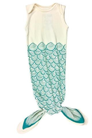 organic baby sleep sack mermaid