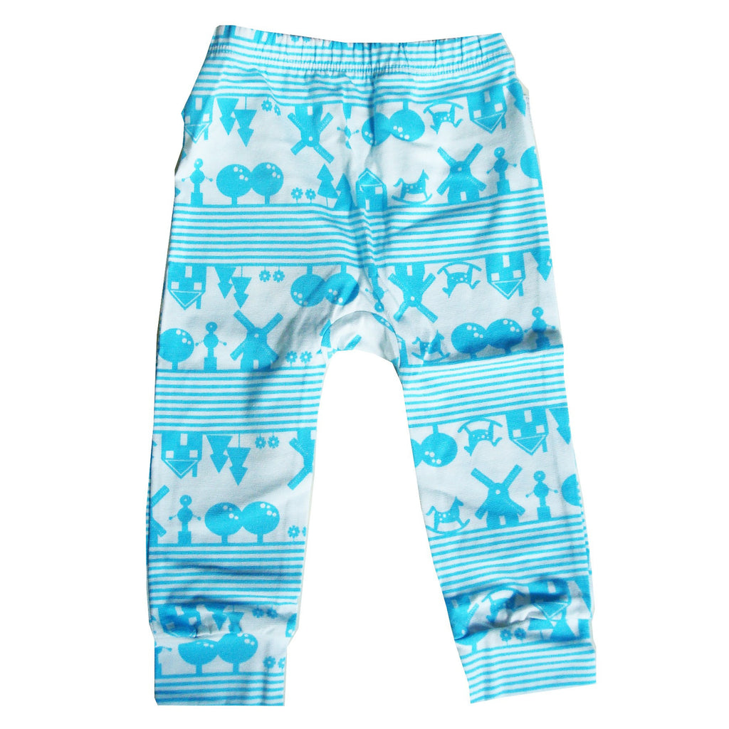 Organic Baby Leggings Blue Heidi
