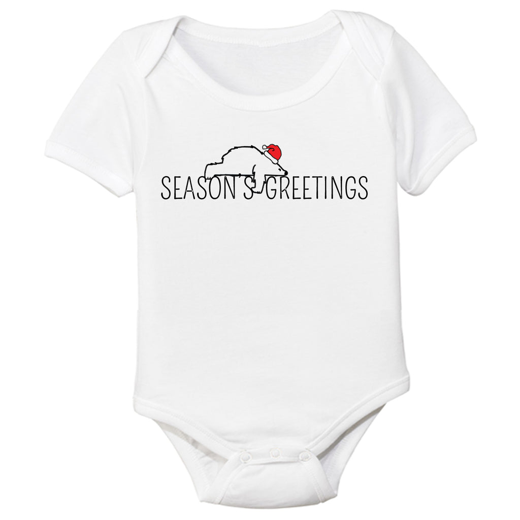 organic cotton baby bodysuit season's greetings BE LOVE kids