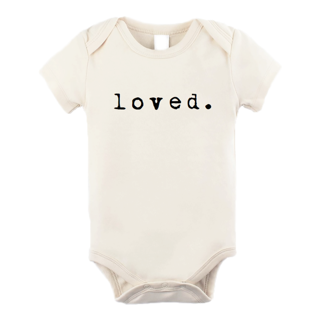 organic cotton bodysuit loved BE LOVE kids