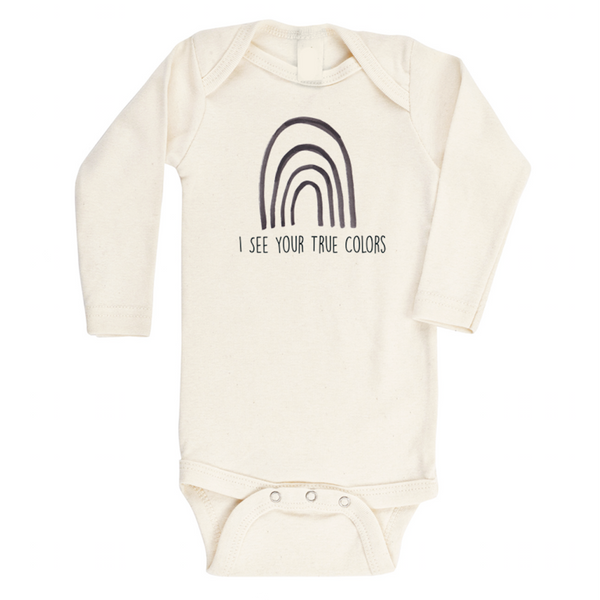 I see your true colors organic cotton long sleeve bodysuit