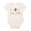 organic cotton bodysuit I Love Mom BE LOVE kids