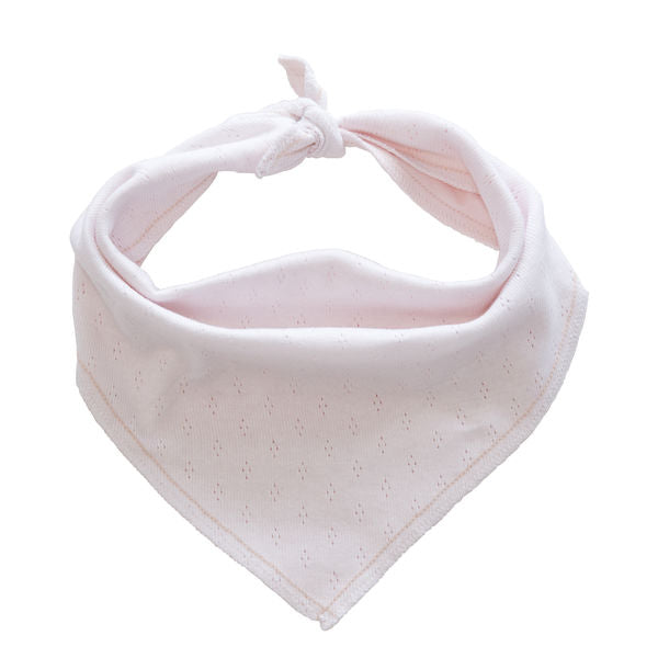 organic cotton baby bandana bib pink BE LOVE kids
