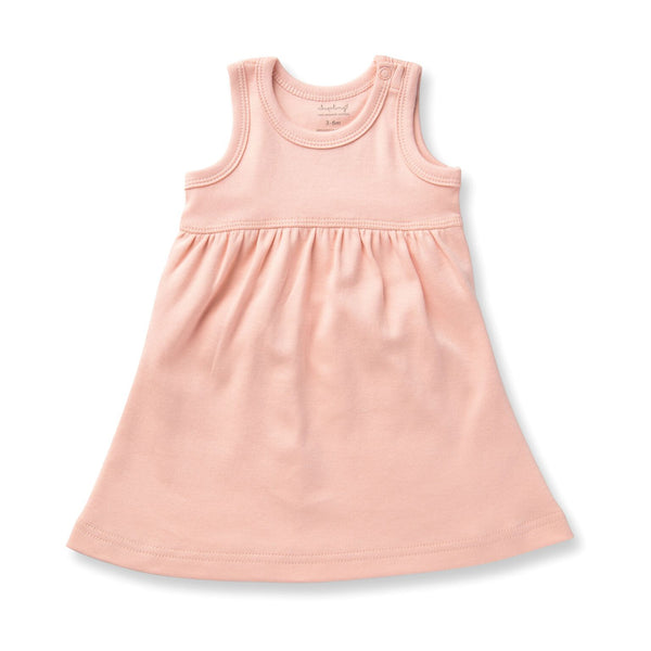 organic cotton baby dress peach BE LOVE kids
