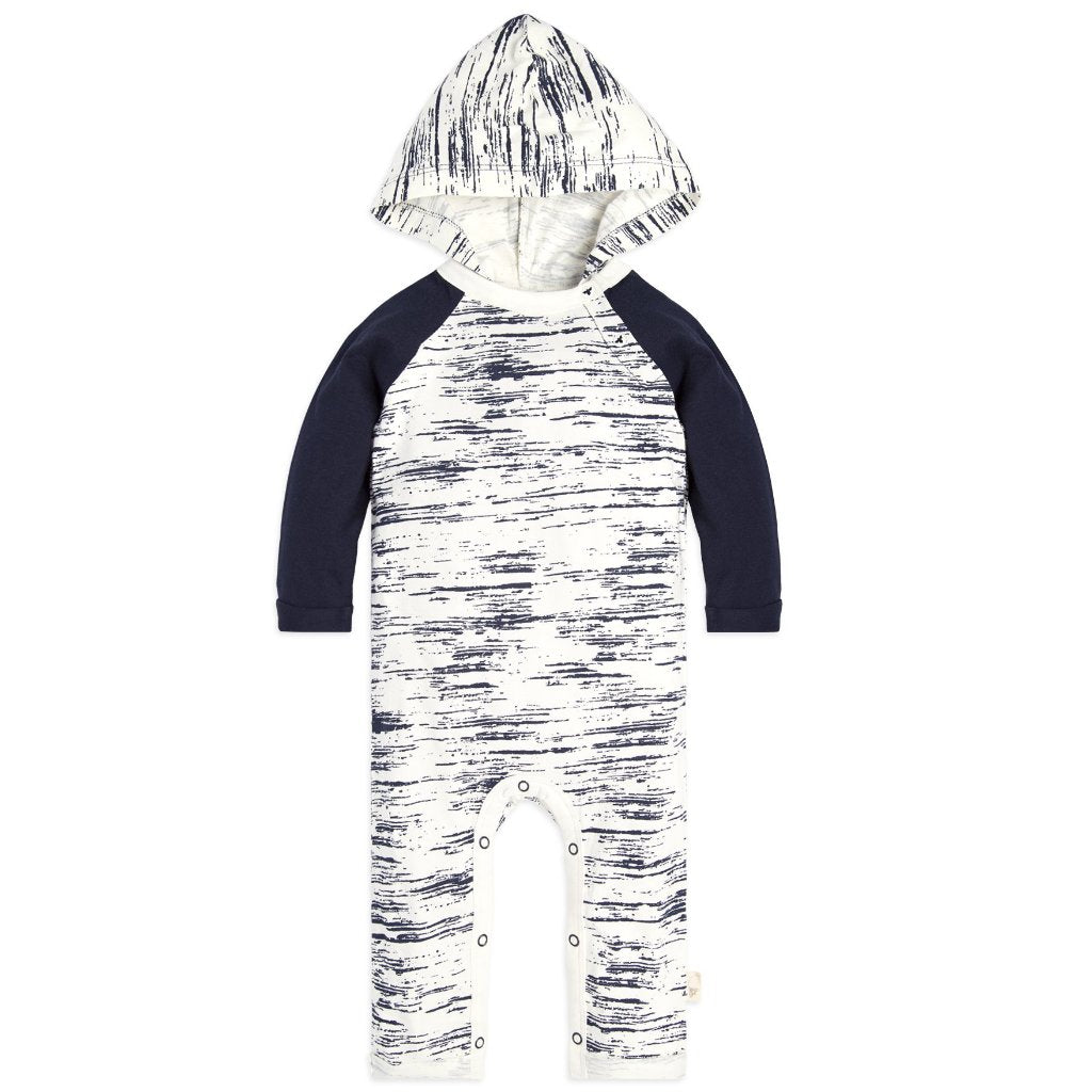 organic cotton baby coverall black & white BE LOVE kids