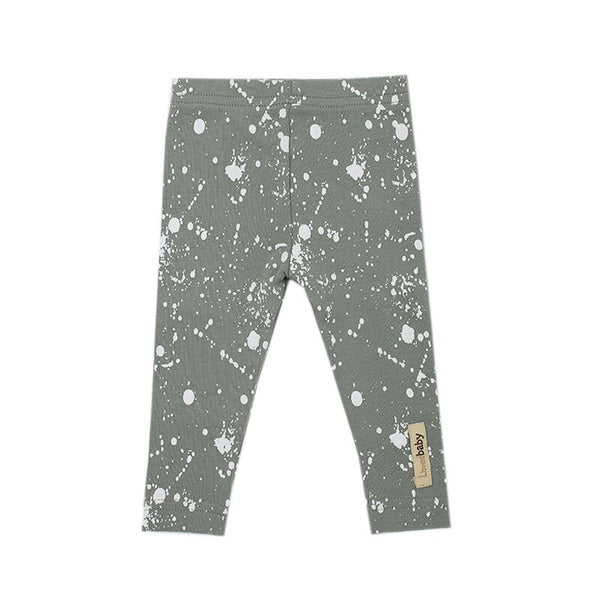 organic cotton green leggings BE LOVE kids