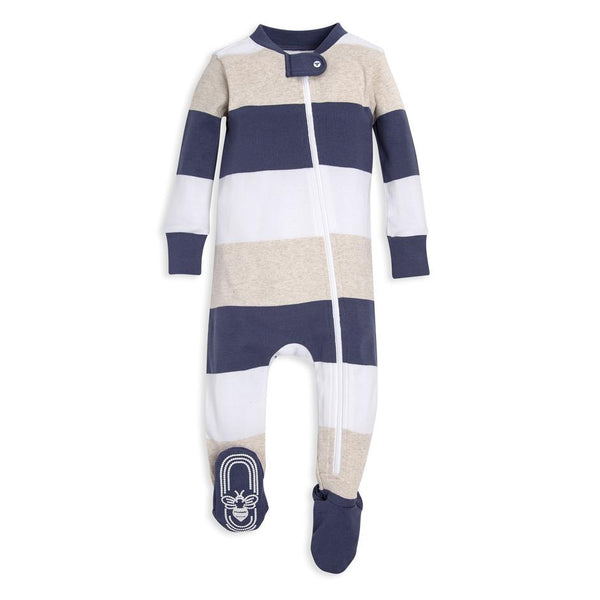 organic cotton baby sleeper large stripes BE LOVE kids