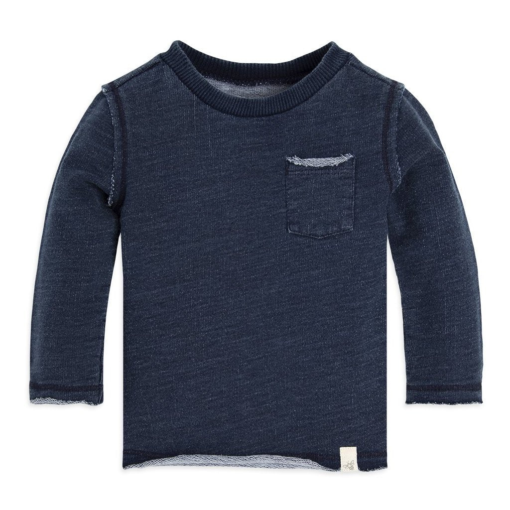 organic cotton blue baby sweatshirt BE LOVE kids