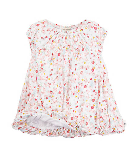 organic cotton floral bubble baby dress BE LOVE kids