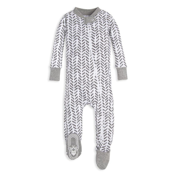organic cotton baby sleeper grey arrows BE LOVE kids