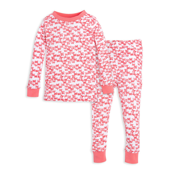 organic cotton kids pajamas pink butterflies
