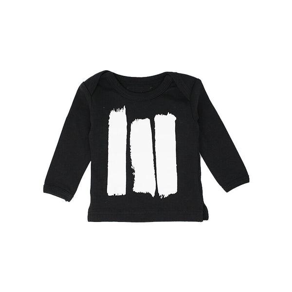 organic cotton long sleeve black tee BE LOVE kids