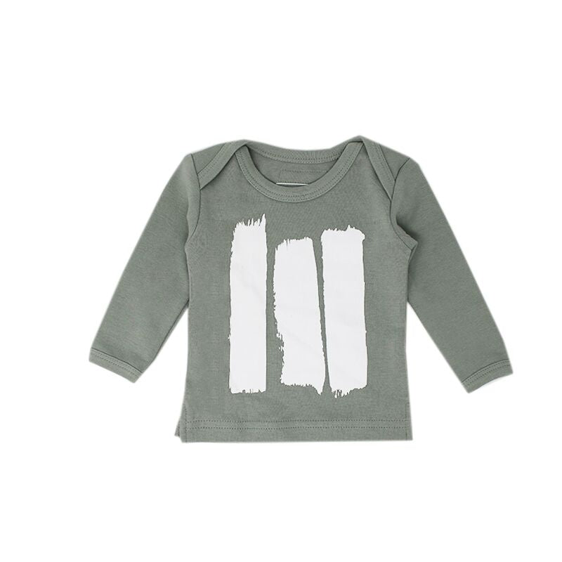 organic cotton green long sleeve tee BE LOVE kids