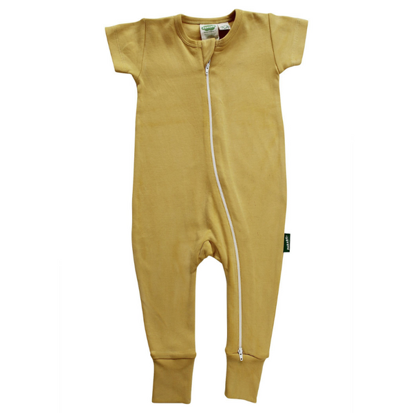 organic cotton mustard baby romper BE LOVE kids