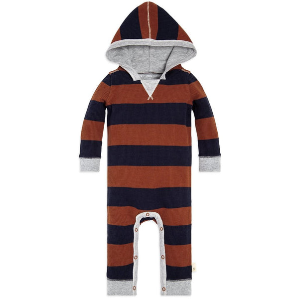 organic cotton orange & blue hooded coverall BE LOVE kids