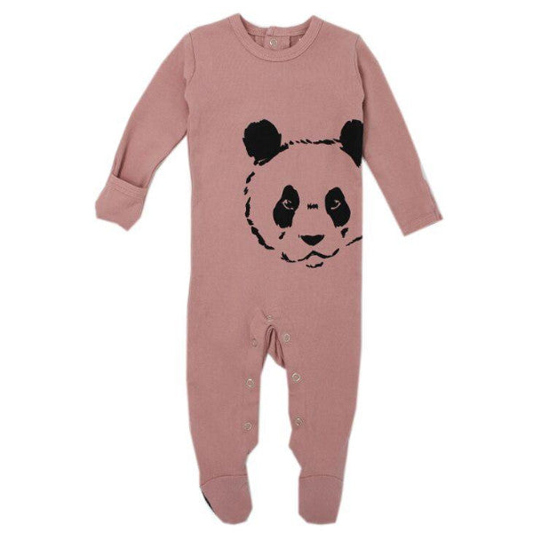 Organic Cotton Baby Sleeper Pink Panda BE LOVE kids