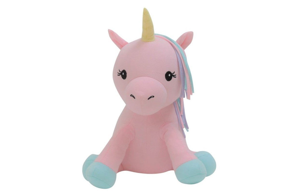 organic cotton stuffed animal pink unicorn BE LOVE kids