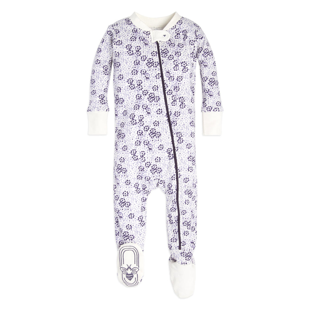 Organic Baby Sleeper Purple Dots