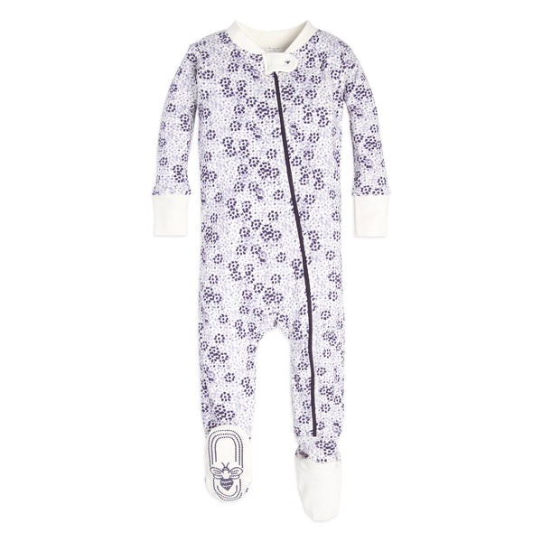 organic cotton purple dots baby sleeper BE LOVE kids