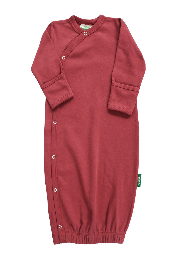 BE LOVE kids organic cotton cranberry colored sleep gown