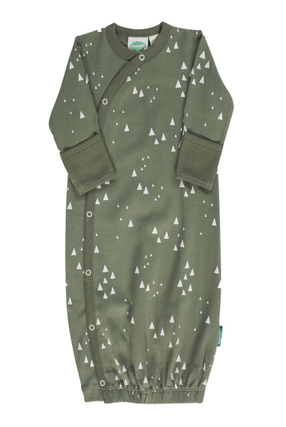 BE LOVE kids organic cotton green mountains sleep gown