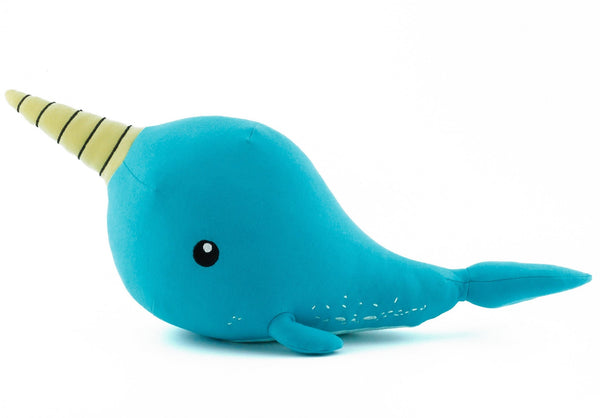 BE LOVE kids organic cotton stuffed animal narwhal