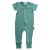 Teal Organic Cotton Baby Romper BE LOVE kids