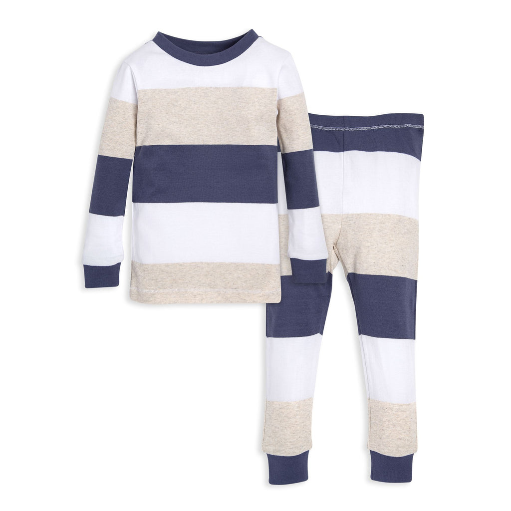 organic cotton toddler pajamas jumbo stripes BE LOVE kids