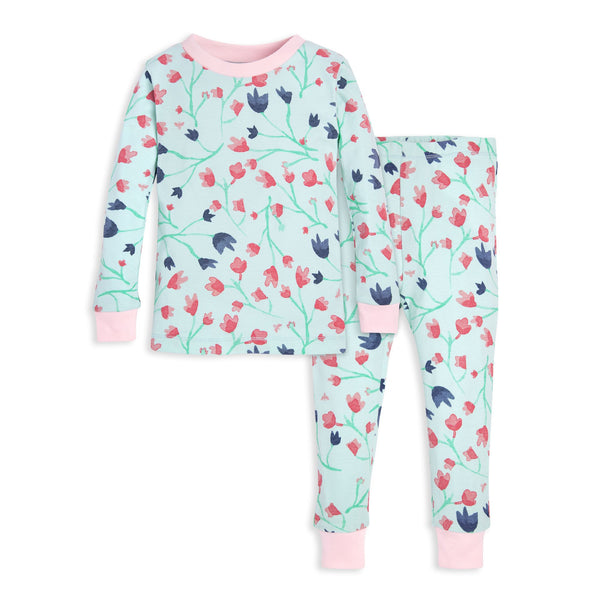 organic cotton spring floral Pajamas toddler