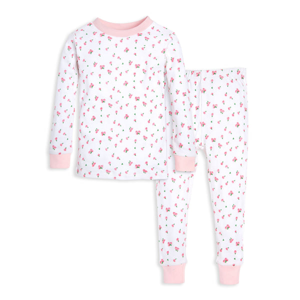 organic cotton toddler pajamas tulips BE LOVE kids