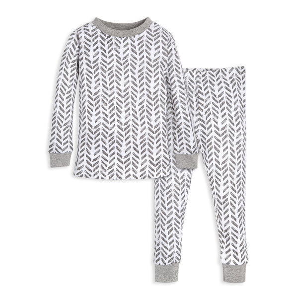 organic cotton grey toddler pajamas BE LOVE Kids