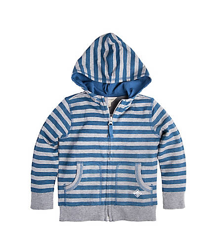 toddler blue & grey jacket organic cotton BE LOVE kids