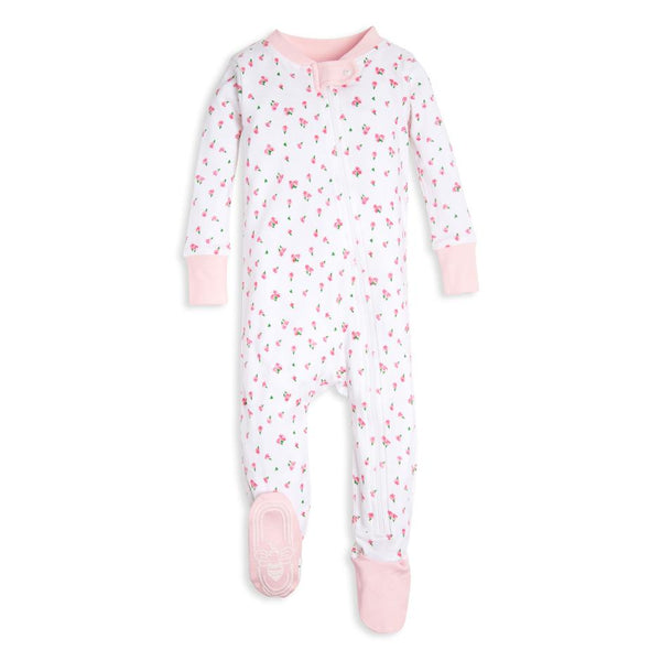 organic cotton baby sleepers tulips BE LOVE kids