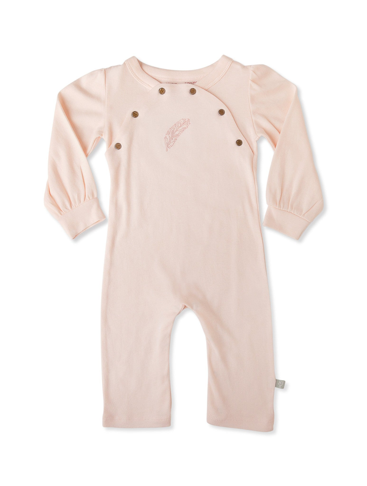 Organic Pearl Pink Feather Coverall