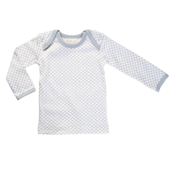 organic cotton long sleeve baby t-shirt grey BE LOVE kids