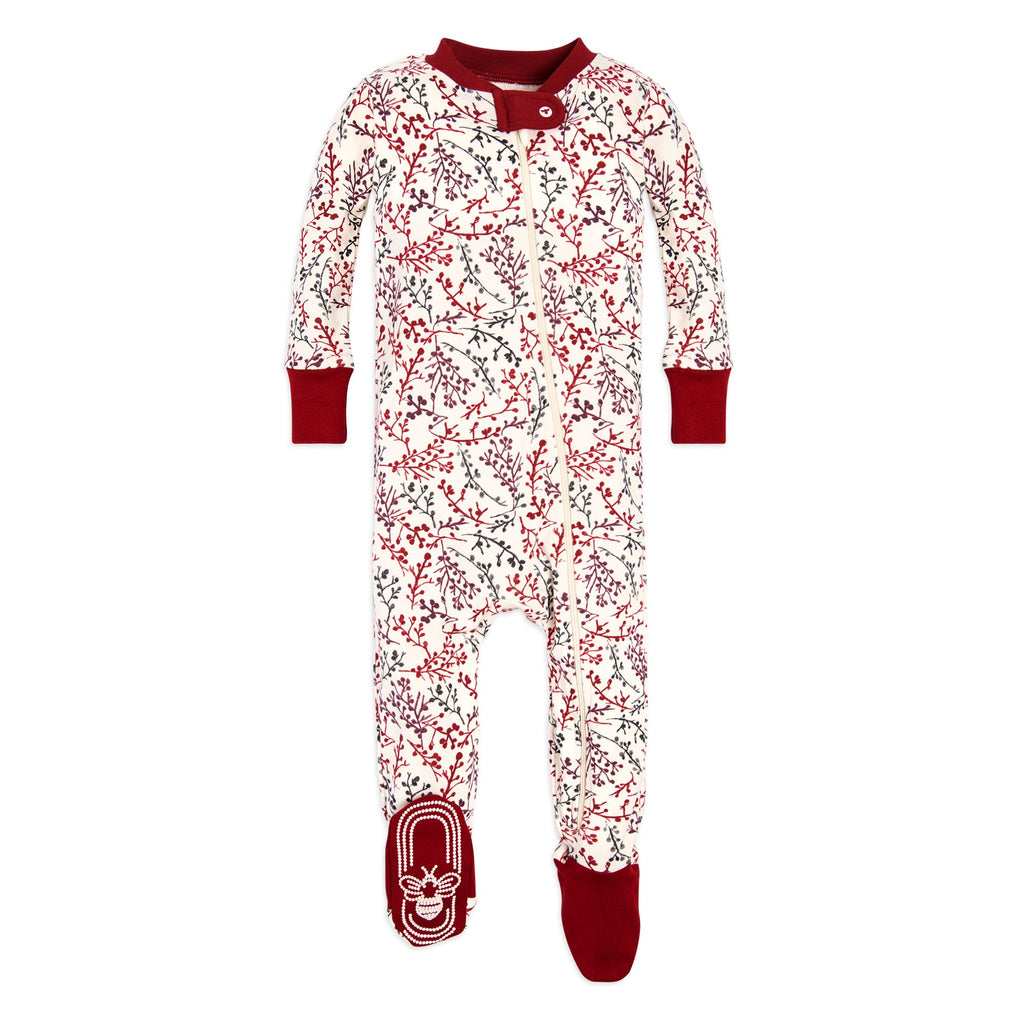 BE LOVE kids organic cotton holiday floral baby sleeper
