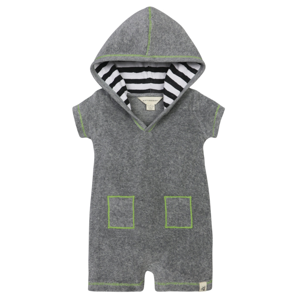Organic Knit Terry Hooded Coverall Shorts