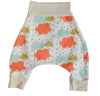 organic cotton baby harem pants colorful clouds