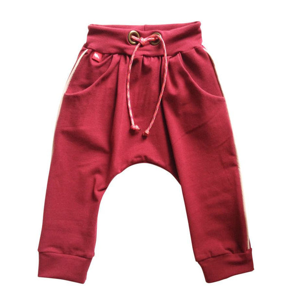 Red Organic Baby Harem Pants - BE LOVE kids