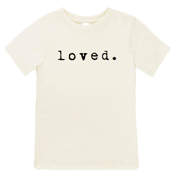 organic cotton loved. t-shirt BE LOVE Kids