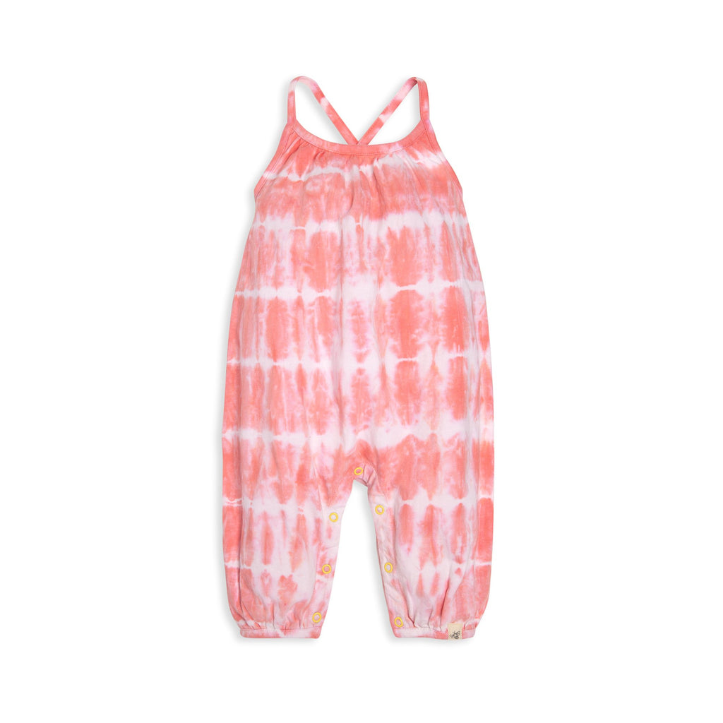 Organic cotton pink tie dye baby romper BE LOVE kids