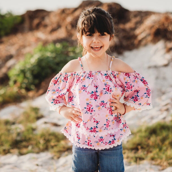 Off the shoulder girls top BE LOVE kids