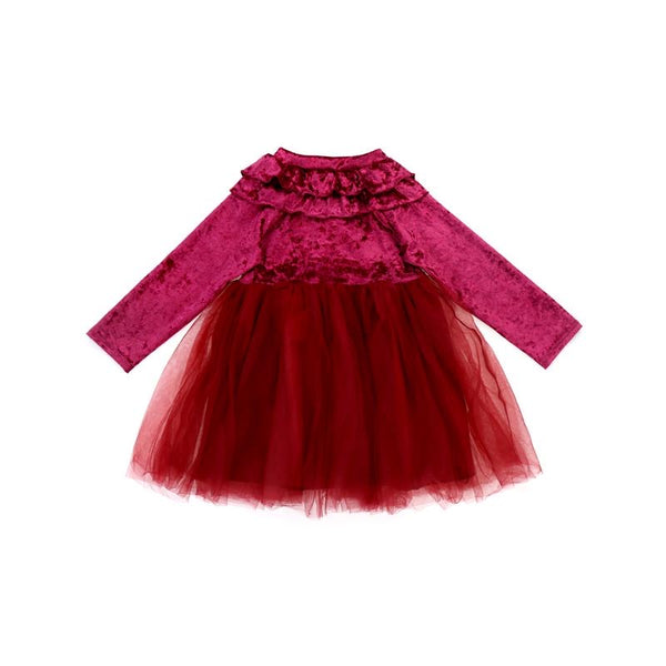 Red Toddler holiday tutu dress BE LOVE kids